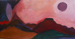 Painting of Mountains by Shulamit Sofia of Soul Strength Seminars