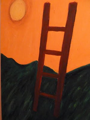 The Sacred Ladder painting by Shulamit Sofia of Soul Strength Semianrs